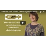 30 Second video - Belinda, Director of glosjobs, Cheltenham, Gloucestershire