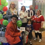School receives prize from panto star