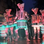 Spectacular drummers Spark! thrill crowds at launch of Light Up Cheltenham