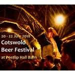 Cotswold Beer Festival 2018 at Postlip Hall Barn, celebrating 42 years of good beer and good company