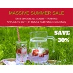 Massive Summer Sale on all Training Courses Attended in August