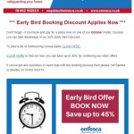 Early Bird] Book now and save up to 45%