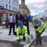 Improvement work to Cheltenham High Street is in full swing - £929,000 investment by Cheltenham Borough Council and Gloucestershire County Council