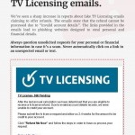 Alert- Fake TV Licensing Refund Offers - Be cyber savvy!