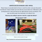 Winter Shelter sponsor a Bed Appeal
