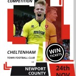 COMPETITION: Win a pair of tickets to see Cheltenham Town's clash against Newport on Sat 24th November