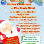 Visit Santa on his floating grotto at the Black Shed
