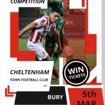 COMPETITION: Win a pair of tickets to see Cheltenham Town's clash against Bury on Tues 5th March