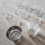 FOR SALE: Job lot of 40 clear glass, slightly tapering tea lights