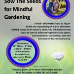 FREE! Mindful Gardening Beginners Course : Starts 27th March 2019