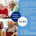 Resident Vacancies Available at Abbeyfield