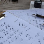 Modern festive calligraphy workshop: Cotswolds