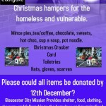 Christmas hampers for the homeless and vulnerable