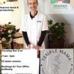 Temple Mama Massage Taster - an introduction to Neck and Shoulder treatments in the workplace