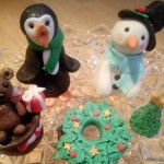 One for the adults only! Christmas fondant toppers with prosecco & cake!