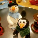Ladies Night - Fondant Christmas Cake Toppers with Prosecco and cake