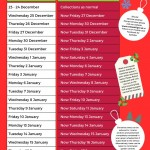 Christmas and New Year waste collection changes