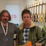 Noel Gallagher makes first visit to Cheltenham to make a purchase at ATB Guitars