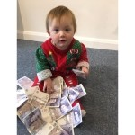 We have a winner - Mabel was very happy to win £520!