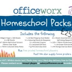 Homeschool Packs now available from Officeworx - Delivered direct to your door