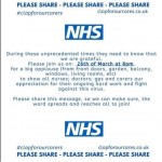 #clapforourcarers - Big applause to show our appreciation to NHS staff