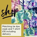 Handmade Tie Dye Mask with Matching Tshirt - OFFER