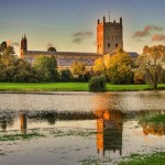 Sunset over Tewkesbury Abbey - Photo