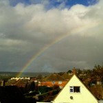 Rainbow over Stroud - Photo