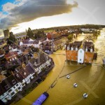 Aerial views of Tewkesbury Flooding February 2014 - Photos