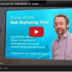GB Web Tuition - courses for individuals & small businesses - Video