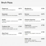 "Any 9"" Pizza for £5"