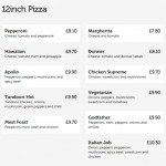 "Any 12"" Pizza for £6"